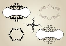 Ornamental frames and sign design. Vector set vector illustration