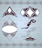 Ornamental frames and sign designs. Vector set Stock Image