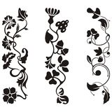 Ornamental frieze designs. With floral details,  series Royalty Free Stock Photos