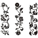 Ornamental frieze designs. With floral details,  series Stock Photography
