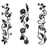 Ornamental frieze designs. With floral details,  series Stock Photos