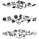 Ornamental frieze designs. With floral details,  series Royalty Free Stock Photography