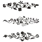 Ornamental frieze designs. With floral details,  series Stock Photo