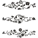 Ornamental frieze designs. With floral details,  series Royalty Free Stock Images