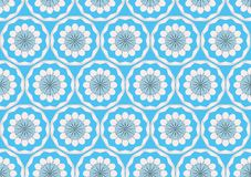 Ornamental frosty or floral background. Seamless Stock Image