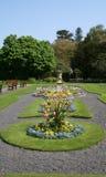 Ornamental Garden. An ornamental garden in an English Park Stock Photo