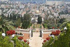 Ornamental garden of the Baha'i Temple royalty free stock photos