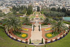 Ornamental garden of the Baha'i Temple Royalty Free Stock Photography
