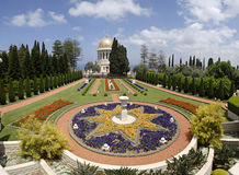 Ornamental garden of the Baha'i Temple Royalty Free Stock Photo