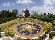 Ornamental garden of the Baha'i Temple royalty free stock photo
