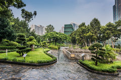 Ornamental garden Kowloon Walled City Park Hong Kong Stock Images