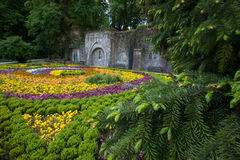 Ornamental garden in Lillafured park Royalty Free Stock Image