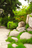 Ornamental garden next to Giant Wild Goose Pagoda, Xian, China Royalty Free Stock Photo