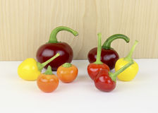 Ornamental garden peppers Stock Photography
