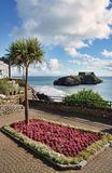 Ornamental garden in Tenby, Wales. Royalty Free Stock Image