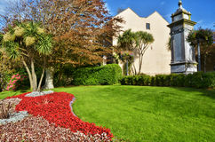 Ornamental garden in the town of Tenby, Wales. Stock Images
