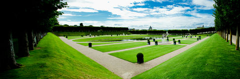 Ornamental garden in villandry Stock Images