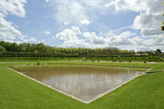 Ornamental gardens near castle of Villandry, France Royalty Free Stock Photography