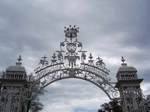 Ornamental gates. At Cholmondeley, Cheshire Stock Photography