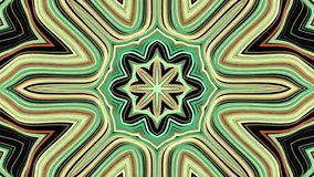 Ornamental geometric kaleidoscope ethnic tribal psychedelic pattern animation - New quality retro vintage holiday native. Ornamental geometric caleidoscope star stock video