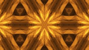 Ornamental geometric kaleidoscope light show star moving pattern orange New quality universal motion dynamic animated stock illustration