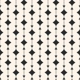 Elegant geometric seamless pattern. Curved shapes texture. Ornamental geometric seamless pattern. Abstract monochrome background with curved shapes, rhombuses Stock Photos