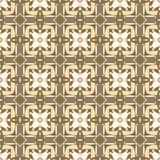 Ornamental geometric seamless pattern. Vector background texture. Retro style tile. Olive colors. Royalty Free Stock Photography