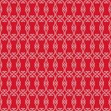 Ornamental Geometric Swirls on Red royalty free stock photo