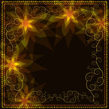 Ornamental golden background with pattern Stock Image