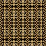 Ornamental golden grid, seamless background in oriental style Stock Photography