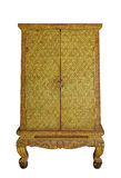 Ornamental golden pattern Thai cabinet Royalty Free Stock Photo