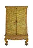 Ornamental golden pattern Thai cabinet Royalty Free Stock Photo