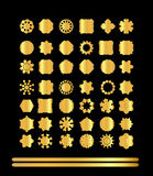 Ornamental golden round lace background Royalty Free Stock Photography