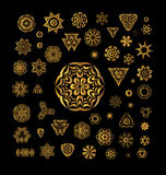 Ornamental golden round lace background Royalty Free Stock Images
