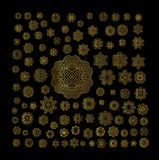 Ornamental golden round lace background Stock Photos