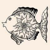 Ornamental graphic fish Stock Photo