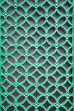 Ornamental green door lattice Stock Image