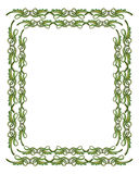 Ornamental Green and Gold Border Royalty Free Stock Images