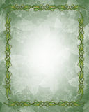 Ornamental Green and Gold Border Stock Photography