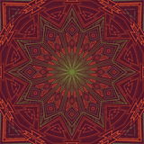 Ornamental green-red round background Royalty Free Stock Images