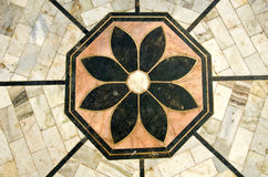 Ornamental and grungy marble floor background Stock Photo