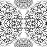 Ornamental half round lace pattern, circle background, crocheting handmade lace, lacy arabesque designs. Royalty Free Stock Photo