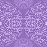 Ornamental half round lace pattern, circle background, crocheting handmade lace, lacy arabesque designs. Stock Image