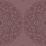 Ornamental half round lace pattern, circle background, crocheting handmade lace, lacy arabesque designs. Royalty Free Stock Photography