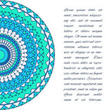 Ornamental handmade ethnic card template. Lace abstract artwork. Background for use in design for card, invitation, book, poster,datebook, diary, brochures Stock Image