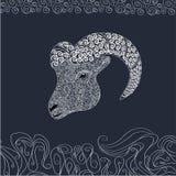 Ornamental head of goat Stock Photos