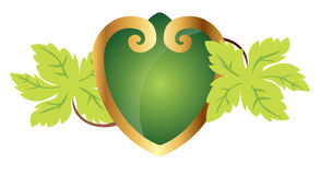 Ornamental heart with leafs Stock Images