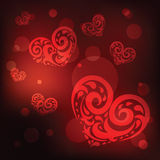 Ornamental Heart. Love. Stock Images