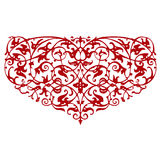 Ornamental heart shape Royalty Free Stock Images