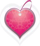 Ornamental heart. Tag  on the white Stock Photos